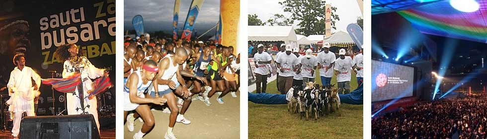 Tanzanian Festivals of Music, Sport, Film, Fashion and Dance