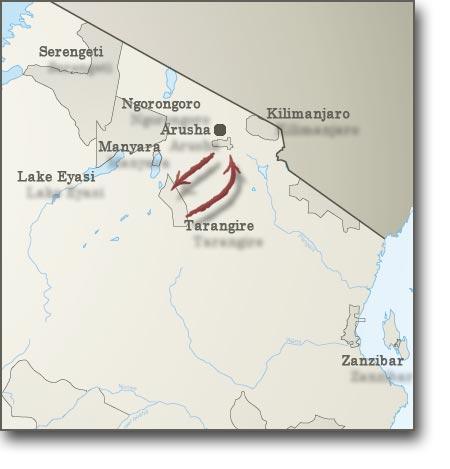Map for Adventure Camping Safari